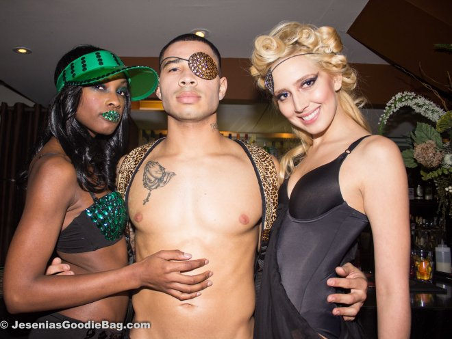 Brian Bunn (Model) with 2 female models