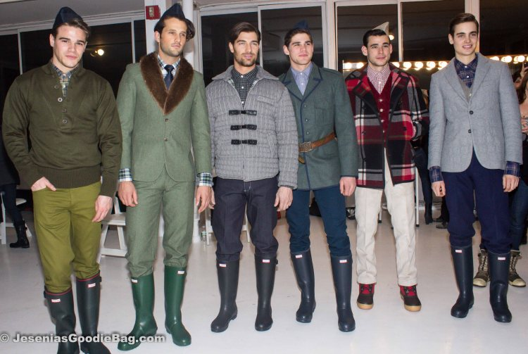 Backstage (Models: Tucker Des Lauriers, Terron Wood, Guy 1, Ryan Bertroche, Brad Zanoni, Mitch Baker)