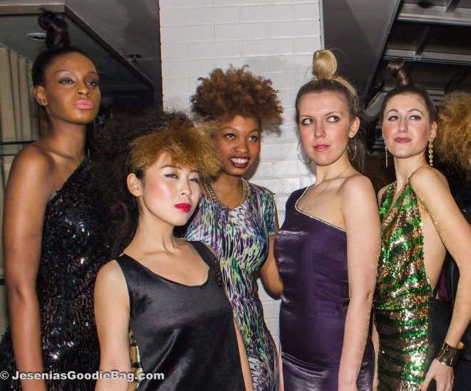 Jessica Martin (Designer: Nippy Lavern Fashions) with her models
