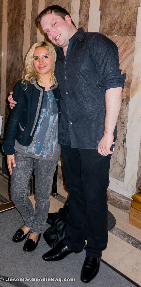 Jesenia (JGB Editor) with Christopher Coffee (Gotham Beauty Lounge)