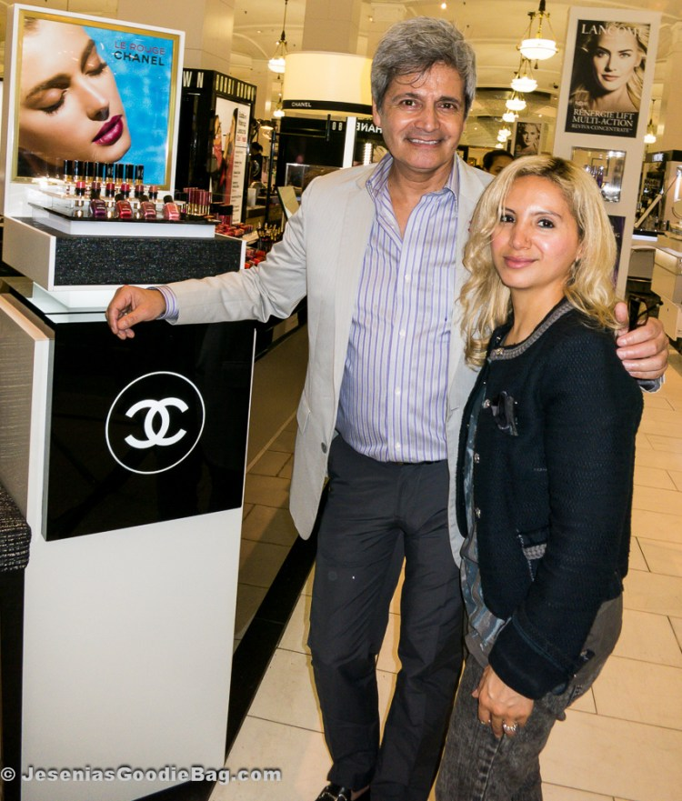 Mario Penailillo (Chanel) with Jesenia (JGB Editor)
