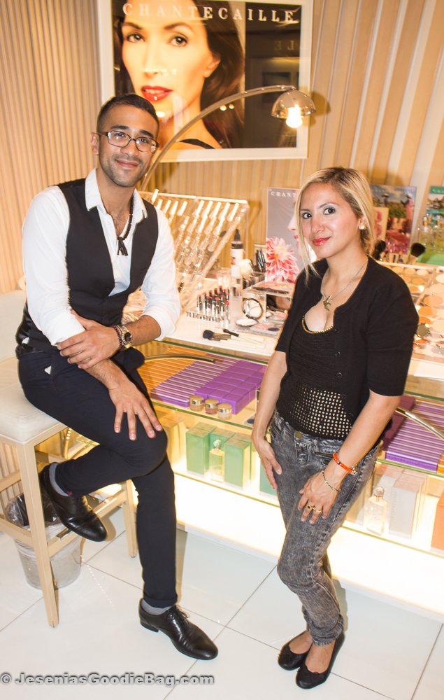 Jesenia (JGB Editor) with Eddie Hernandez (Chantecaille)
