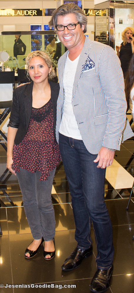 Robert Cook (Lancome) with Jesenia (JGB Editor)