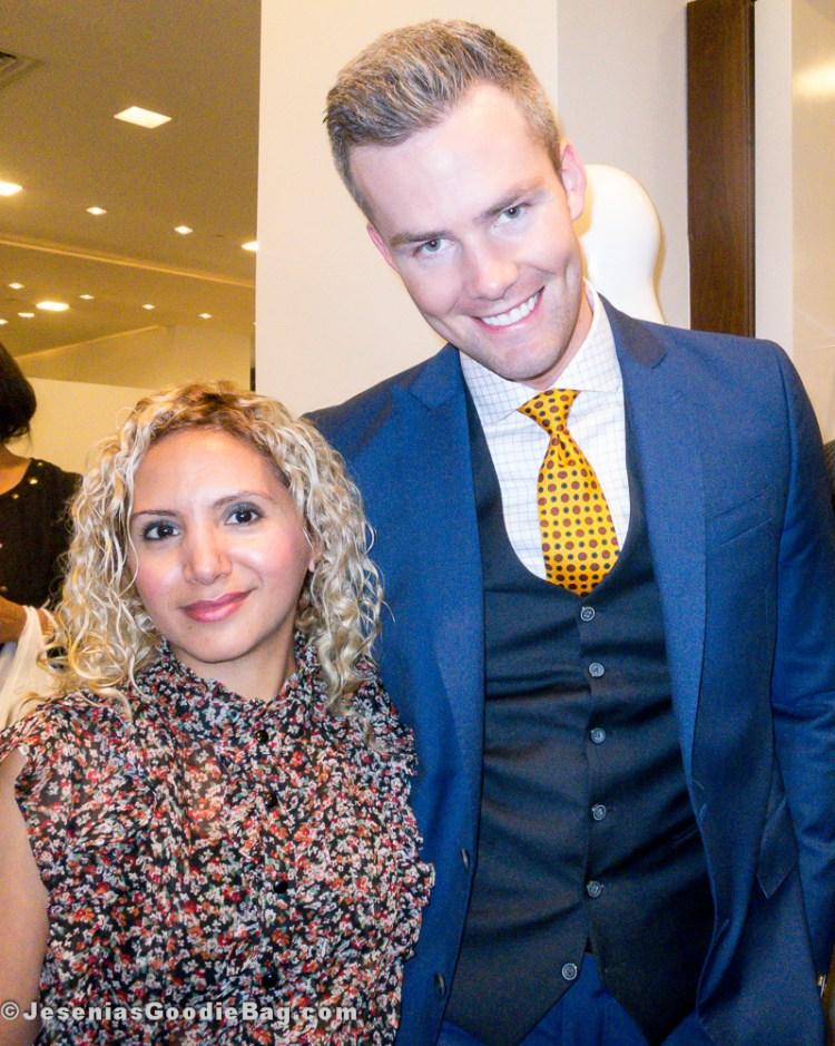 Jesenia (JGB Editor) with Ryan Serhant (Million Dollar Listing New York)