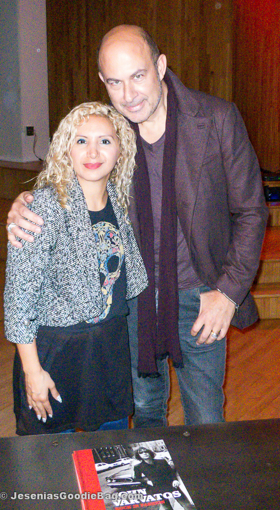 Jesenia (JGB Editor) with John Varvatos