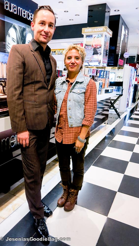 Michel Coulombe (Laura Mercier) with Jesenia (JGB Editor)