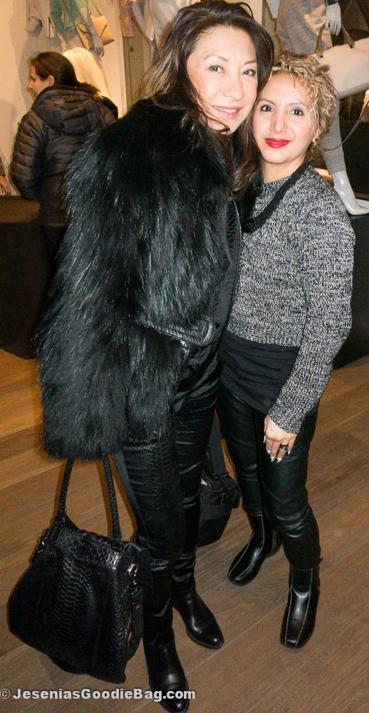 Barbara Bui with Jesenia (JGB Editor)