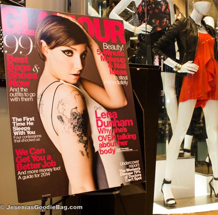 Lena Dunham for Glamour magazine - April 2014