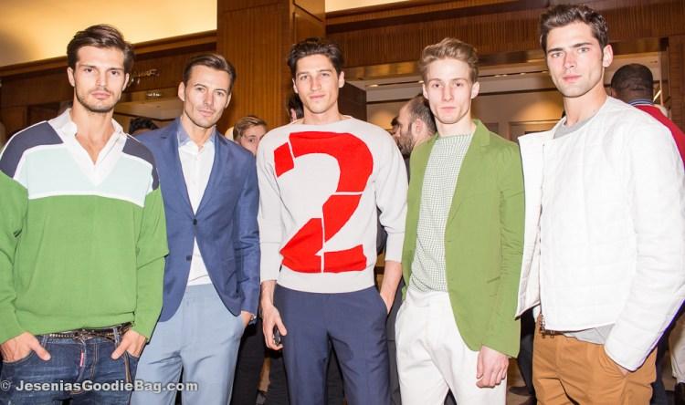 Diego Miguel, Alex Lundqvist, Ryan Kennedy, Michael Lange, Sean O'Pry (Models wearing: Spring 2014 Salvatore Ferragamo)