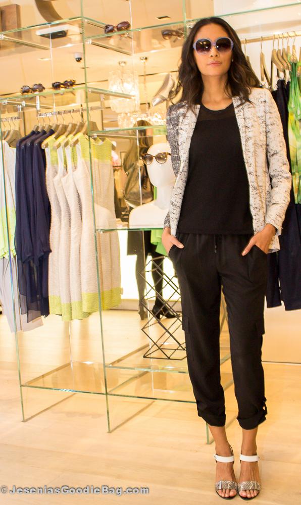 Model wearing Elie Tahari Eyewear
