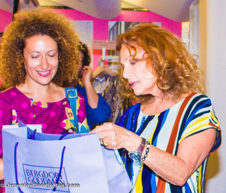 Diane Von Furstenberg signing autographs