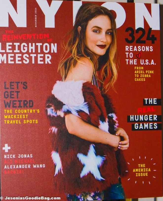Leighton Meester for Nylon Magazine (November 2014)
