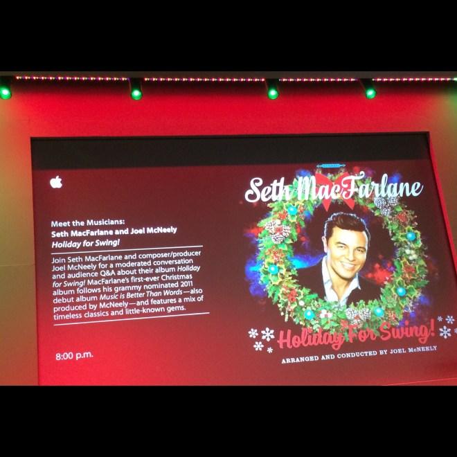 Seth MacFarlane for Holiday For Swing!