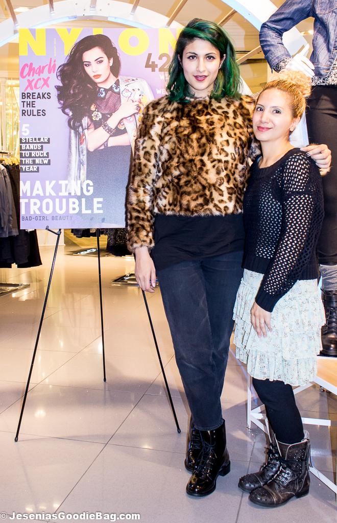 Preetma Singh (Nylon) with Jesenia (JGB Editor)