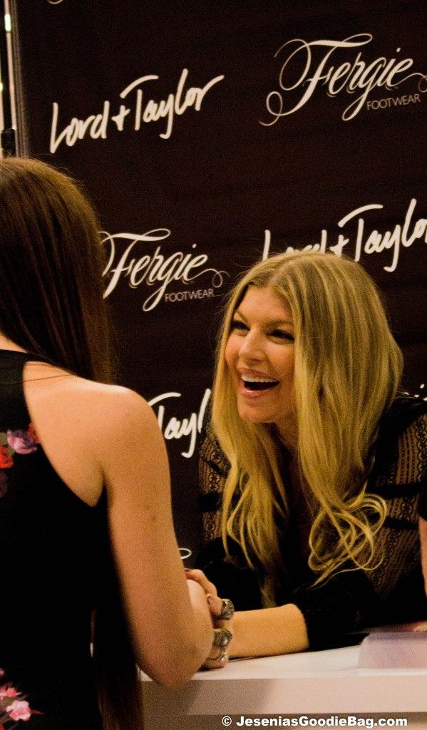 Fergie greets fans