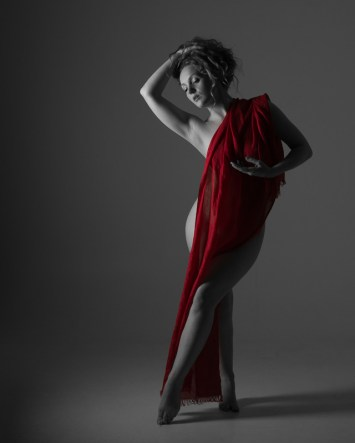 """Dancing with red scarf"" - Model: Ivory Flame"
