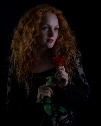"""Redhead with rose"" - Model: Ivory Flame"