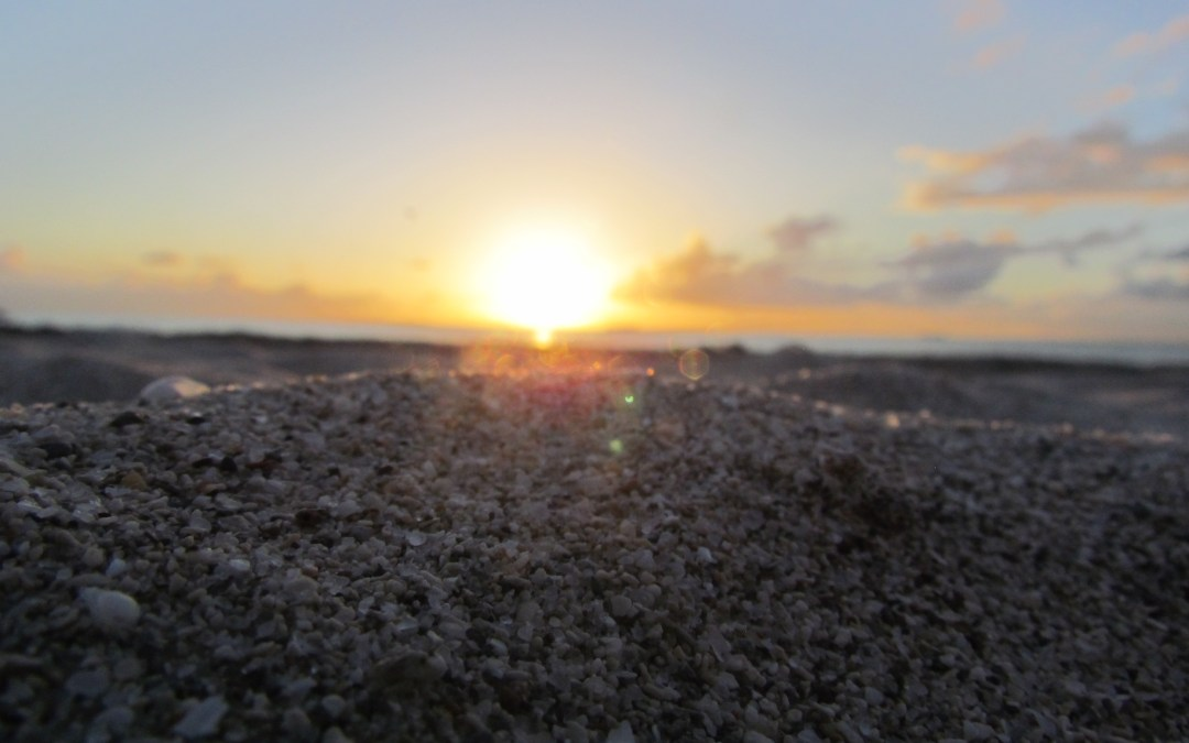 Sand and sunrise