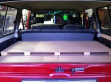 Finished! This is the frame pulled back with the back seats up (usually they were kept down)