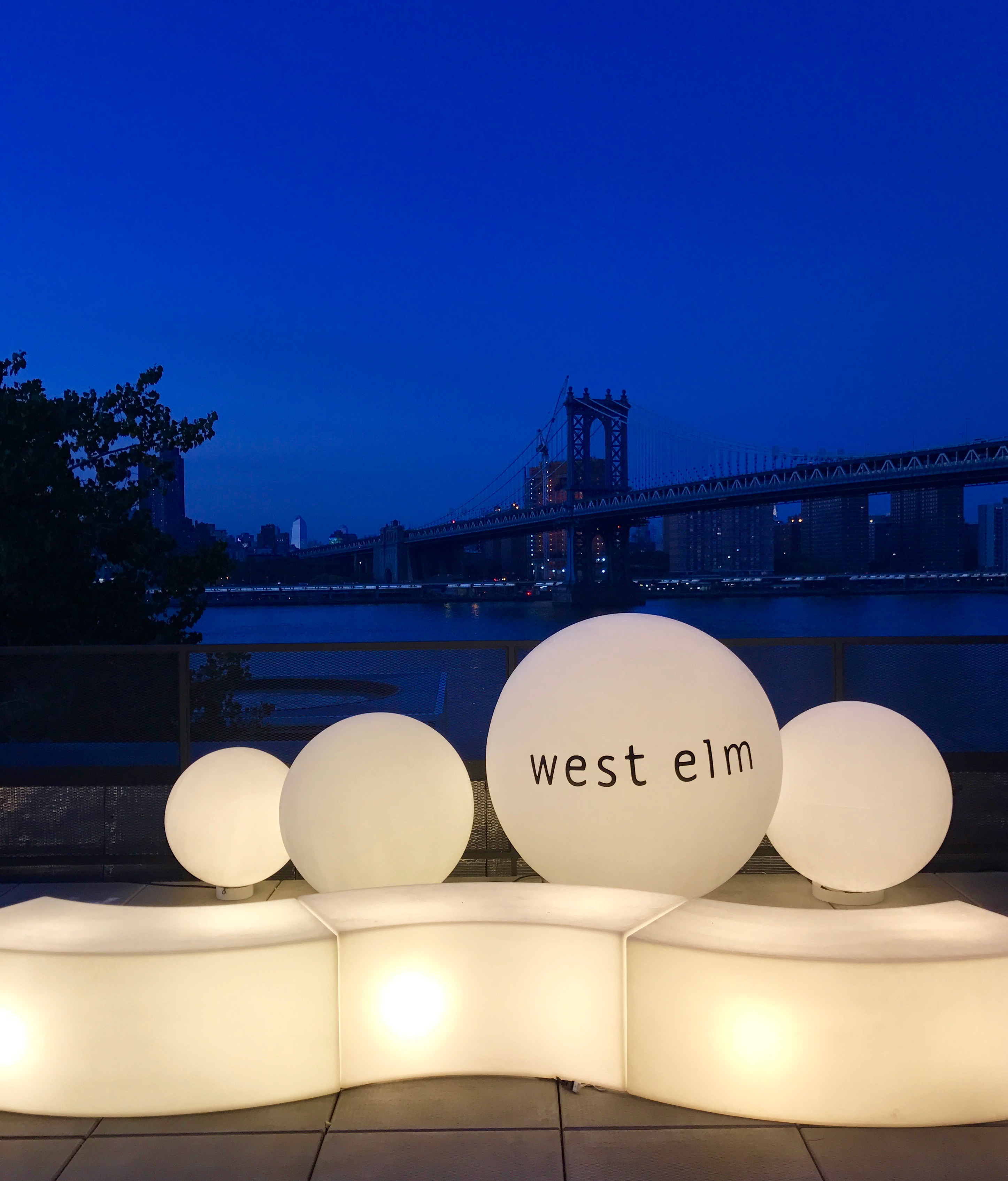 The view from the rooftop of west elm's New York HQ
