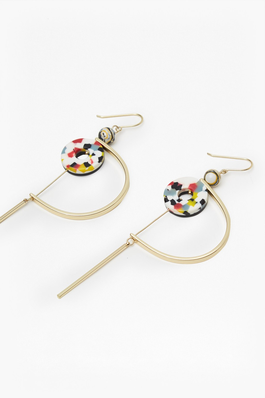 French Connection - Colour Resin Hoop and Ring Earrings - £20