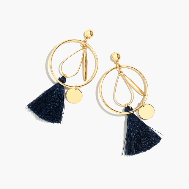 J Crew - Abstract Tassel Hoop Earrings - £27