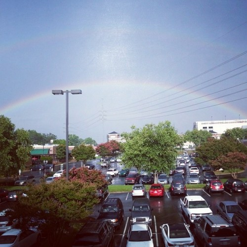 Rainbow from the #jessebrownscharlottenc balcony.