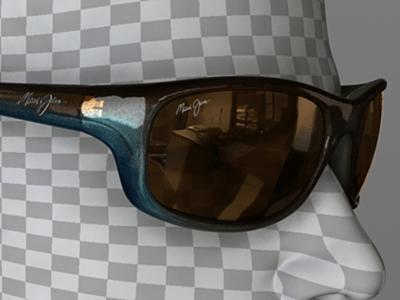 Metallic interior under blue/brown exterior