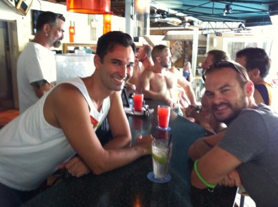 Hangin' out at the bar
