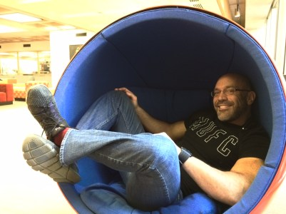 "Me in a ""womb chair"""