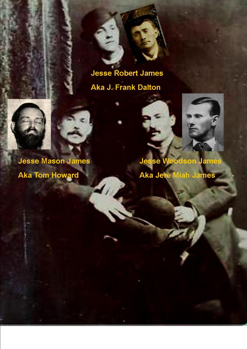 Three cousins named Jesse James