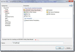 Adding Entity Data Model