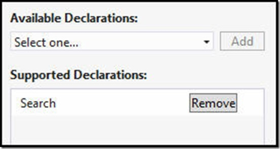 SearchDeclaration