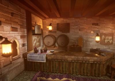 FFTA2 Pub | 3D Modular Level Interior