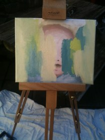 first oil portrait (ended up being so ugly I turned it into..)