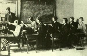 Typing class, Belhaven College, c. 1928