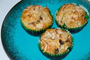 Chocolate Chip Coconut Banana Muffins