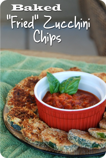 "Baked ""Fried"" Zucchini Chips"