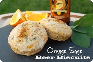 Orange Sage Beer Biscuits