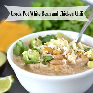 Crock Pot White Bean and Chicken Chili