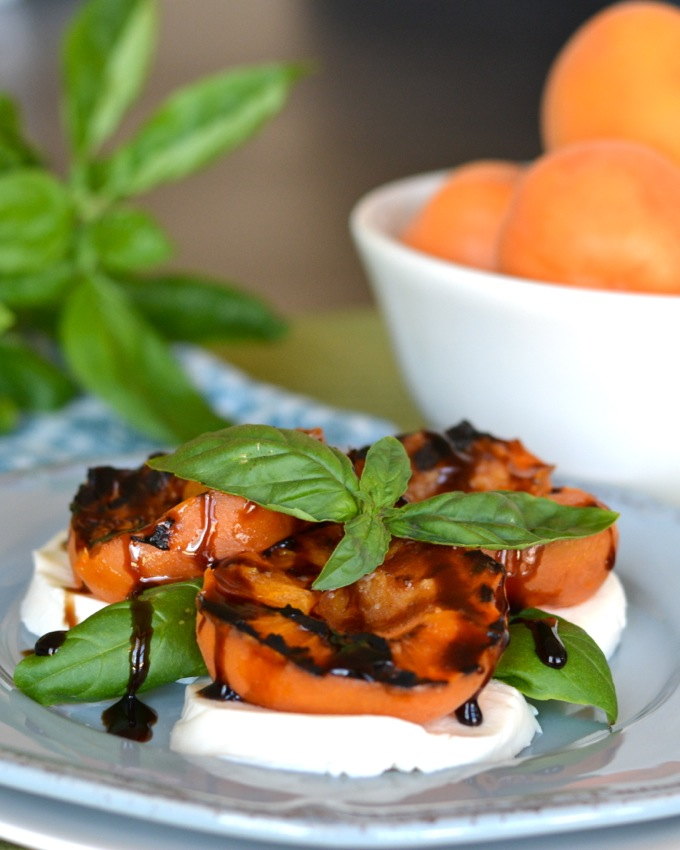 Grilled Apricot Caprese