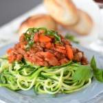 Zoodles with Lentil and Mushroom Bolognese {Vegan}