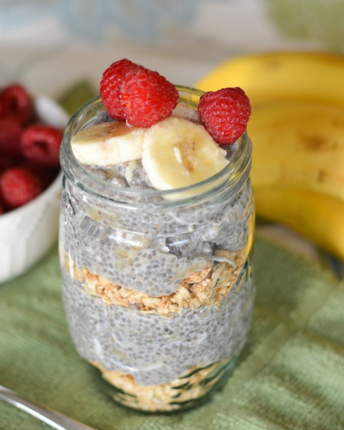 Banana Almond Chia Seed Pudding