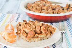 Leftover Sandwich Crust Peanut Butter French Toast Casserole