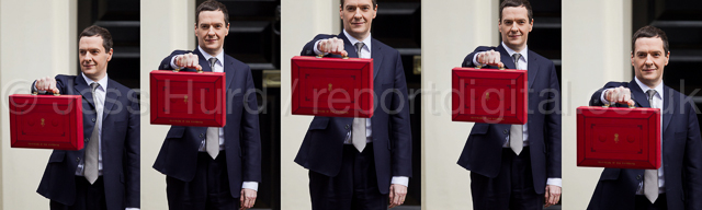 The Chancellor, George Osborne leaves 11 Downing Street to deliver his Budget to Parliament. Westminster, London. © Jess Hurd/reportdigital.co.uk Tel: 01789-262151/07831-121483   info@reportdigital.co.uk   NUJ recommended terms & conditions apply. Moral rights asserted under Copyright Designs & Patents Act 1988. Credit is required. No part of this photo to be stored, reproduced, manipulated or transmitted by any means without permission.