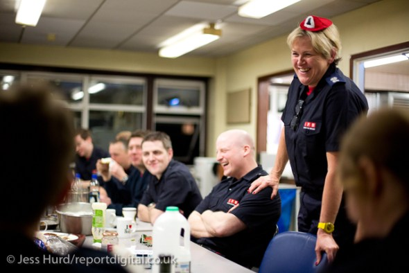 Sian Griffiths, White Watch Manager. Retiring after 30 years and one of the first LFB female firefighters. Paddington Fire Station. London.