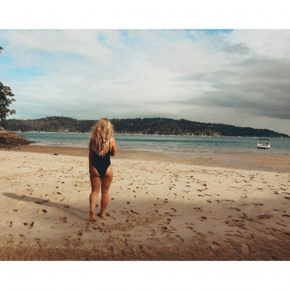 millie girl on a beach walking