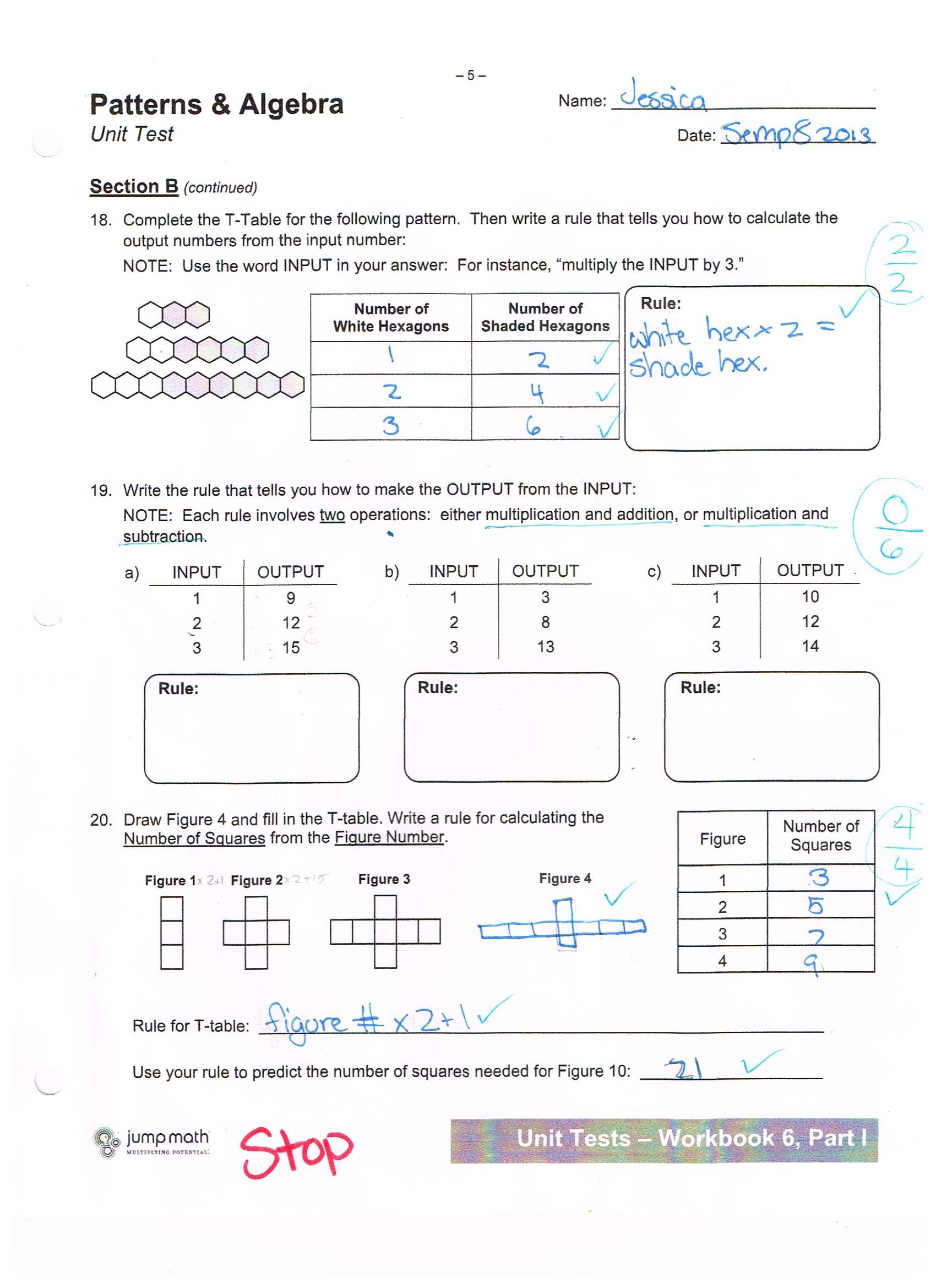 Grade 5 Math Worksheet Canada
