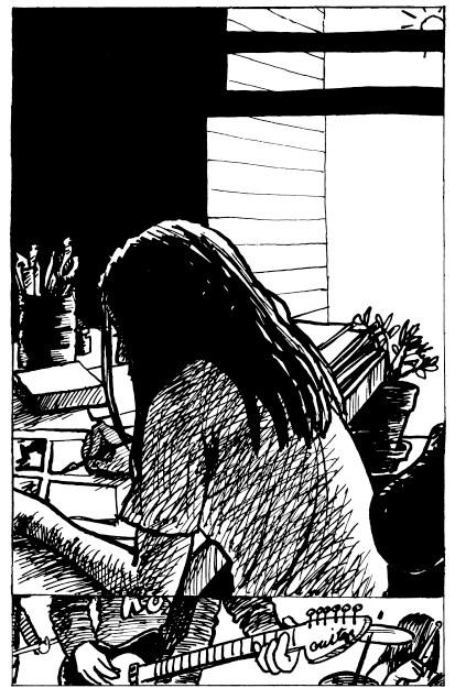 Jessica Abel draws comics at age 22.