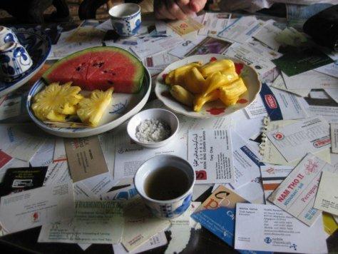 Afternoon tea & fruit